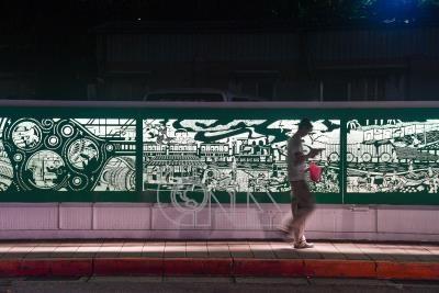 寶藏巖鐵雕故事光廊 訴說台北記憶(1)