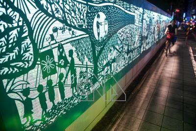 寶藏巖鐵雕故事光廊 訴說台北記憶(2)