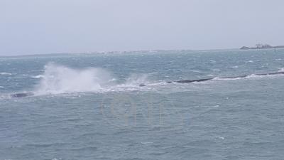 東北風強勁 澎湖海域可見巨浪