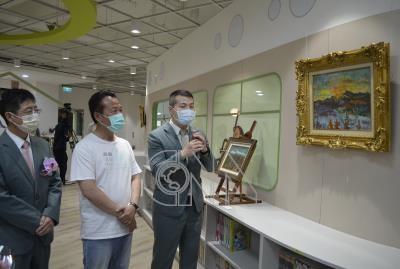 嘉縣圖書館展出藝術家廖繼春真跡「玉山日出」