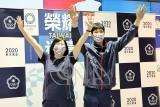 東奧台灣羽球好手返台  周天成向支持者揮手致意