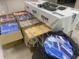 警方查扣地下工廠非法產製雙鋼印口罩